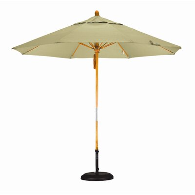 9' Deluxe Hardwood Market Umbrella