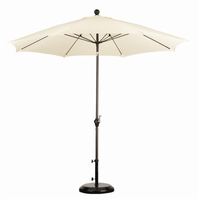 California Umbrella 9' Wind Resistance Fiber Market Push Tilt Umbrella