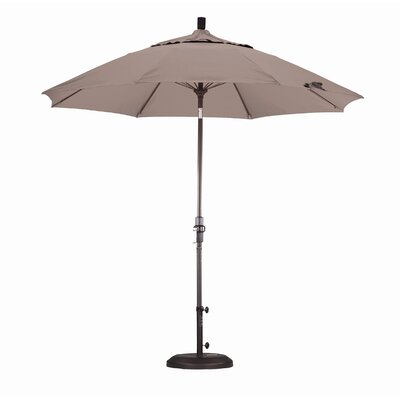 California Umbrella 9' Fiberglass Market Collar Tilt Umbrella
