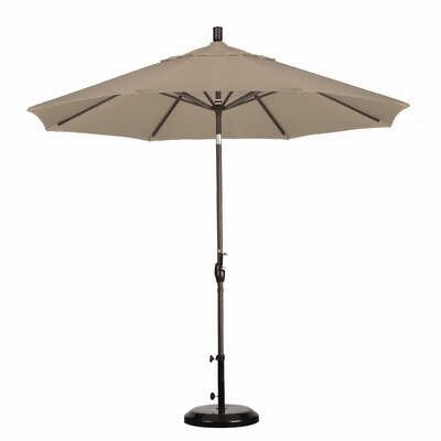 California Umbrella 9' Aluminum Market Push Tilt Umbrella