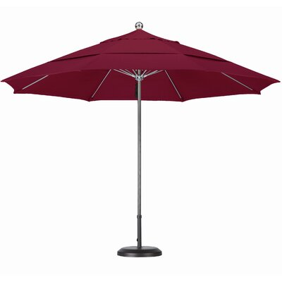 11' Steel Single Pole Fiberglass Ribs Market Umbrella