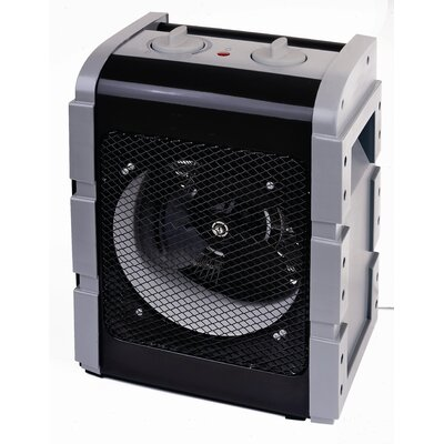 Fan Forced Compact Electric Space Heater with Carrying Handle