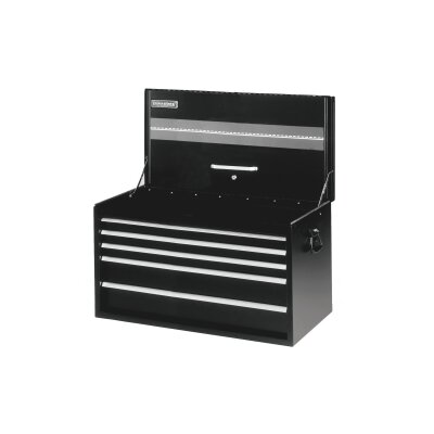 "International Tool Box Black 34"""" 5 Drawer Road Chest"