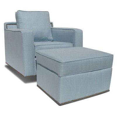 Jennifer Delonge Glam Adult Glider and Ottoman