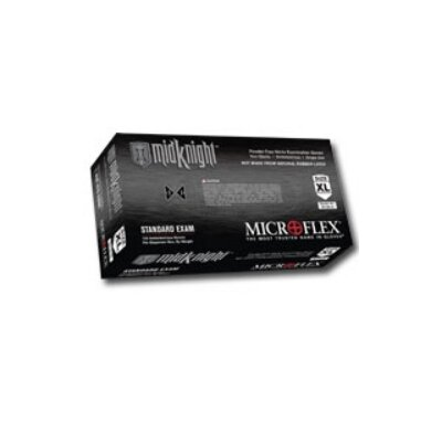 Micro Flex Black Nitrile Powder Free Disposable Glove