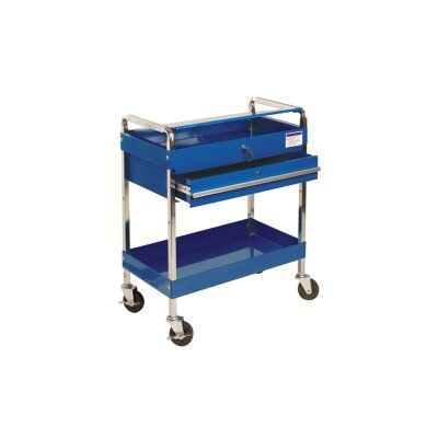 Sunex Service Cart W/Locking Top & Drawer Blue