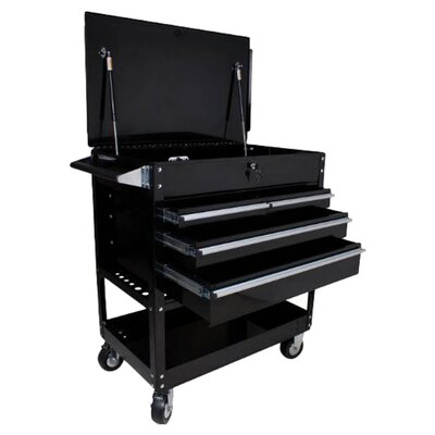 Sunex Dlx Service Cart W/Lockign Top 4-Drawers Black