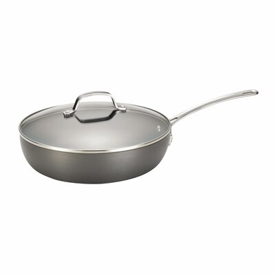 "Circulon Genesis 12"" Hard-Anodized Non-Stick Covered Deep Skillet"
