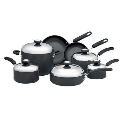 Total Hard Anodized Nonstick 12-Piece Cookware Set