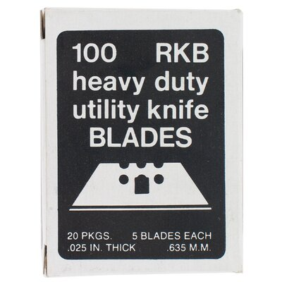 AllwayTools 100 Count 3 Notch Utility Knife Blades RKB100