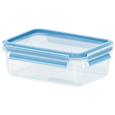 Emsa 3D Food Storage Shallow Rectangular 34 fl oz Clip and Close Container