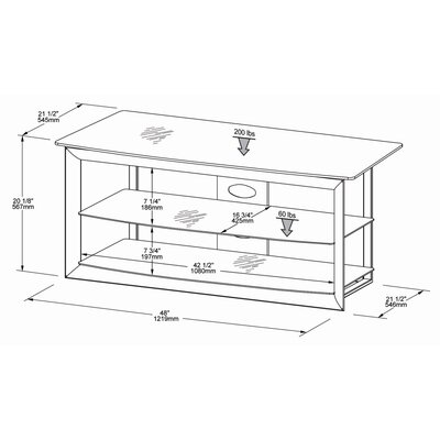 "Tech-Craft Bernini 48"" TV Stand"