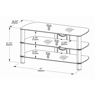 "Tech-Craft Sorrento 41"" TV Stand"
