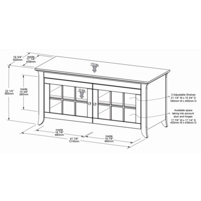 "Tech-Craft Veneto 48"" TV Stand"