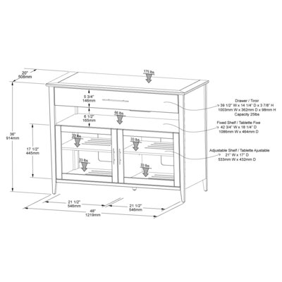 "Tech-Craft Venet 48"" TV Stand"