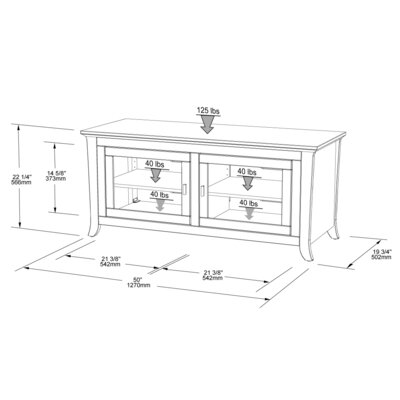 "Tech-Craft 50"" TV Stand"