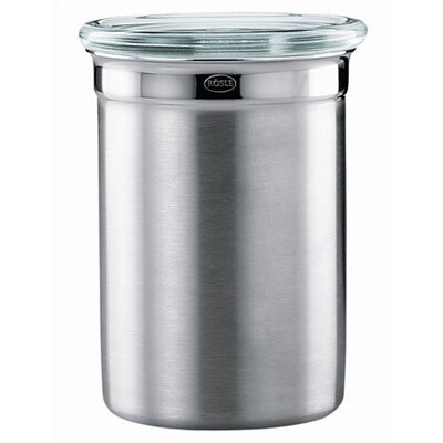 Rosle Stainless Steel Jar / Canister with Glass Lid