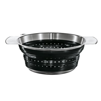 "Rosle 8"" Foldable Strainer in Black"