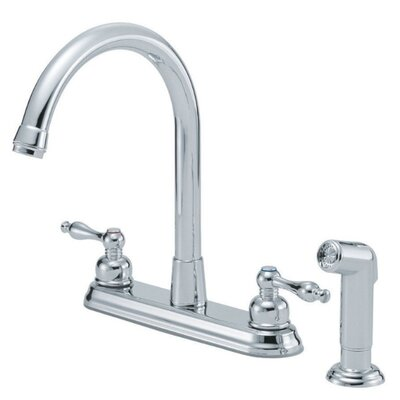 Danze® Sheridan Double Handle Centerset Kitchen Faucet with Spray