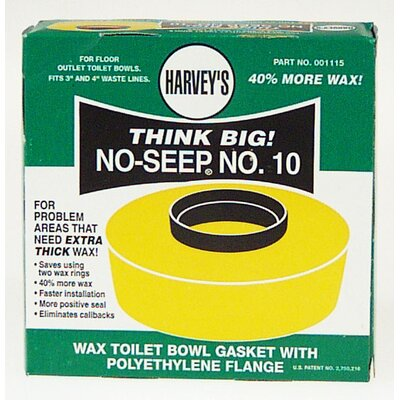 Wm Harvey Co Wax Toilet Bowl Gasket