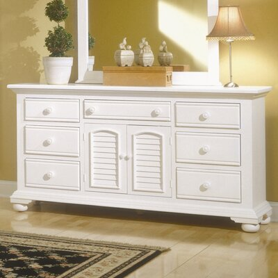 American Woodcrafters Cottage Traditions Triple 7 Drawer Dresser