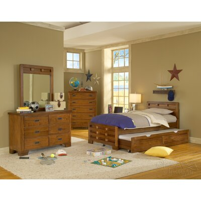 American Woodcrafters Heartland Captains Bed with Trundle