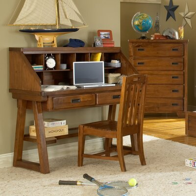American Woodcrafters Heartland Computer Desk and Hutch Set