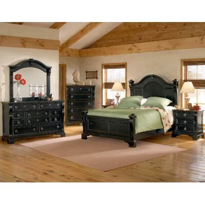 American Woodcrafters Heirloom Panel Bed