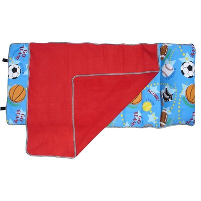 My NapPak Play Ball Pillow, Comforter and Fleece Blanket Set