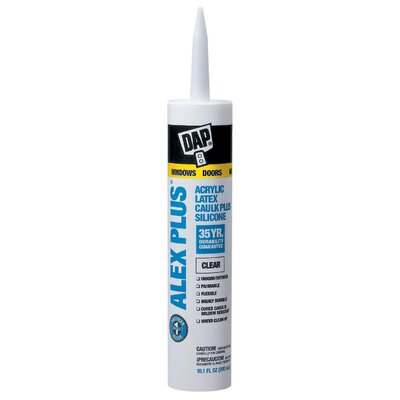 DAP Clear Acrylic Latex Caulk With Silicone 18156