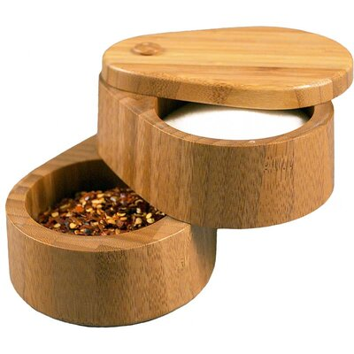 "Totally Bamboo 3.75"" Double Salt Box"