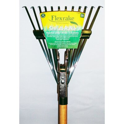 Flexrake Twelve Tine Hardwood Handle Shrub Rake