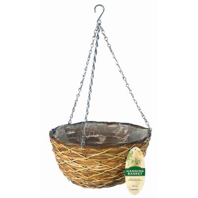 Gardman USA Lattice Rattan Hanging Basket