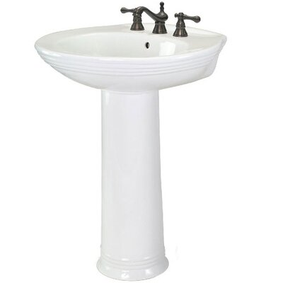 Pegasus Aden 8&quot; Centers Pedestal Sink in White
