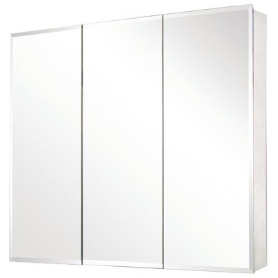 "Pegasus 36"" x 31"" Recessed / Surface Mount Beveled Edge Medicine Cabinet"