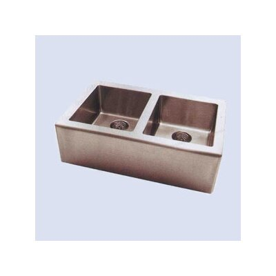 "Pegasus Apron 33"" x 20"" Double Extra Deep Bowl Kitchen Sink"