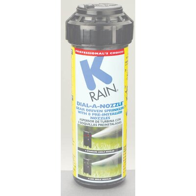 K Rain Dial A Nozzle Pop Up Sprinkler