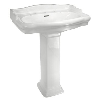 English Turn Pedestal Sink Set with Centers - ECET8