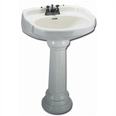Aberdeen Petite Pedestal Sink Top with Centers (Bowl Only) - ECABP4S
