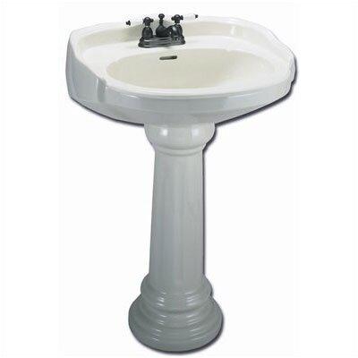 Elizabethan Classics Aberdeen Petite Pedestal Sink Top with Centers ...