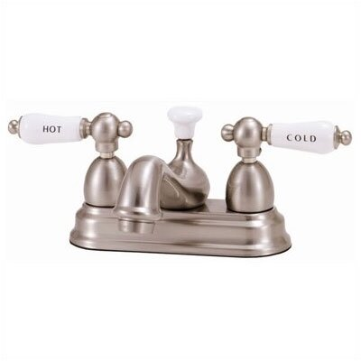 ... Bathroom Faucet with Hot And Cold Porcelain Lever Handles & Reviews