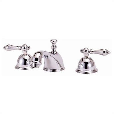 Elizabethan Classics Widespread Bathroom Faucet with Double Metal Lever Handles