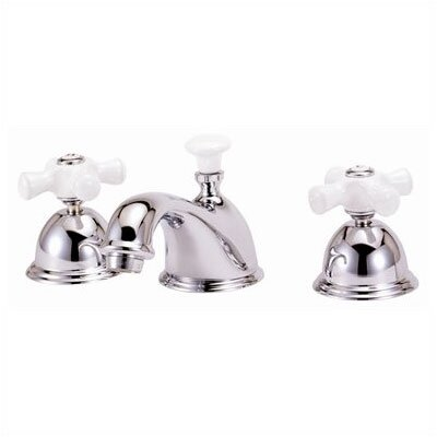 Widespread Bathroom Faucet with Double Porcelain Cross Handles - WS05