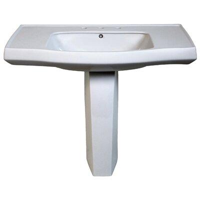 Belle Foret Pedestal Bathroom Sink - BFCPL8WH / BFCPL8BK