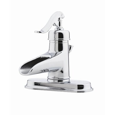 Ashfield Single Hole Vessel Bathroom Faucet with Single Scroll Handle - G-T42-YP0