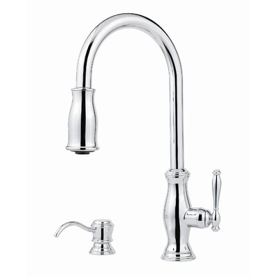 Hanover One Handle Widespread Kitchen Faucet with Soap Dispenser