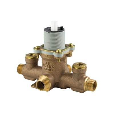 Tub and Shower Ceramic Disc Pressure Balance Valve with Integral Stops - 0X8-340A