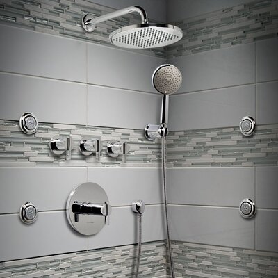 American Standard Berwick Central Thermostatic Shower Faucet Trim with Lever Handles