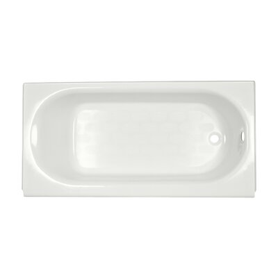 "American Standard Princeton 60"" x 34"" Above-Floor Bathtub with Luxury Ledge and Integral Overflow"