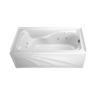 "American Standard 5' x 32"" Cadet Whirlpool with StayClean Hydro Massage System I / Integral Apron and Left Hand Outlet"